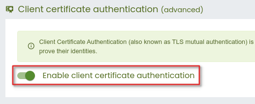 How to enable X.509 client-certificate authentication